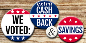 Vote for Coupons AND Cash Back!