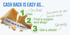 Cash Back is easy!